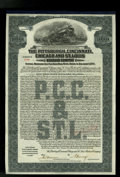 Miscellaneous:Other, Pittsburgh, Cincinnati, Chicago and St. Louis Railroad Company$1000 Gold Bond. . ...