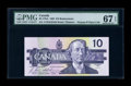 Canadian Currency: , BC-57bA $10 1989. ...