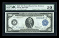 Large Size:Federal Reserve Notes, Fr. 1101 $100 1914 Federal Reserve Note PMG About Uncirculated 50....