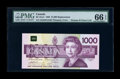 Canadian Currency: , BC-61aA $1000 1988. ...
