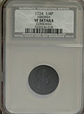 1724 FARTH Hibernia Farthing--Corroded--NCS. VF Details. NGC Census: (0/0). PCGS Population (0/9). (#187)...(PCGS# 187)