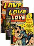 Golden Age (1938-1955):Romance, Top Love Stories Group (Star, 1951-54) Condition: Average VG....(Total: 4 Comic Books)
