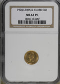 Commemorative Gold: , 1904 G$1 Lewis & Clark MS61 Prooflike NGC. Mintage: 10,025.(#77447)...