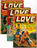 Golden Age (1938-1955):Romance, Top Love Stories Group (Star, 1953-54) Condition: Average FN....(Total: 4 Comic Books)