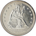 Proof Seated Quarters, 1855 25C PR64 Cameo PCGS....