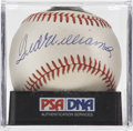 Autographs:Baseballs, Ted Williams Single Signed Baseball, PSA NM-MT+ 8.5. Baseball'schampion of the science of hitting has graced the provided O...