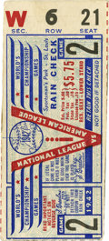 Baseball Collectibles:Tickets, 1942 St. Louis Cardinals World Series Game 2 Ticket Stub. Themighty St. Louis Cardinals of the 1940s made it to the first ...
