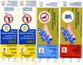 Baseball Collectibles:Tickets, 1985 St. Louis Cardinals Postseason Ticket Stubs Lot of 4. WhiteyHerzog's boys racked up an impressive 101 wins for the 19...