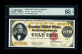 Large Size:Gold Certificates, Fr. 1215 $100 1922 Gold Certificate PMG Gem Uncirculated 65 EPQ....