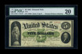 Large Size:Demand Notes, Fr. 1 $5 1861 Demand Note PMG Very Fine 20....
