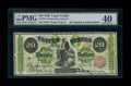 Large Size:Legal Tender Notes, Fr. 124 $20 1862 Legal Tender PMG Extremely Fine 40....