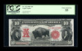 Large Size:Legal Tender Notes, Fr. 122 $10 1901 Legal Tender PCGS Choice About New 55....