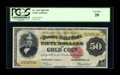 Large Size:Gold Certificates, Fr. 1194 $50 1882 Gold Certificate PCGS Very Fine 20....