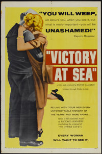 """Victory at Sea (United Artists, 1954). One Sheet (27"""" X 41""""). Documentary"""