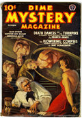 Pulps:Horror, Dime Mystery Magazine October 1938 Issue (Popular, 1938) Condition:VG....