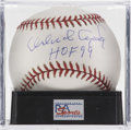 "Autographs:Baseballs, Orlando Cepeda ""HOF 99"" Single Signed Baseball, PSA Gem Mint 10. A nine-time .300 hitter and the 1958 NL Rookie of the Year,..."