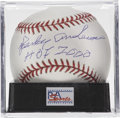 "Autographs:Baseballs, Sparky Anderson ""HOF 2000"" Single Signed Baseball, PSA Gem Mint 10.The Hall of Fame skipper makes note of his induction dat..."