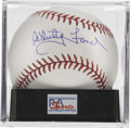 Autographs:Baseballs, Whitey Ford Single Signed Baseball, PSA Mint+ 9.5. The Hall of Fameace presents a sparkling example of his desirable signat...