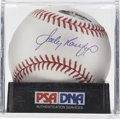 Autographs:Baseballs, Sandy Koufax Single Signed Baseball, PSA Mint 9. The man whobasically owned opposing NL batters during the first half of th...
