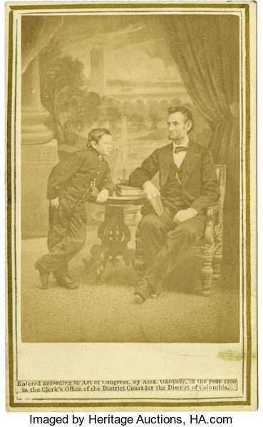 PoliticalSmall Paper Pre 1896 Abraham Lincoln With Tad Gardner