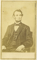 Political:Small Paper (pre-1896), Abraham Lincoln: Carte de Visite by Anthony,...