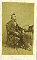 """Political:Small Paper (pre-1896), Abraham Lincoln: Famous 1861 """"Ink Well"""" Variant Carte deVisite...."""