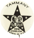 Political:Pinback Buttons (1896-present), Bryan & Sewell: Tammany Star Jugate,...