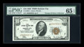Small Size:Federal Reserve Bank Notes, Fr. 1860-J $10 1929 Federal Reserve Bank Note. PMG Gem Uncirculated 65 EPQ.. ...