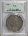Early Dollars: , 1799/8 $1 15 Stars Reverse F15 PCGS. PCGS Population (11/176). NGCCensus: (0/198). Numismedia Wsl. Price for NGC/PCGS coi...