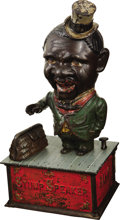 "Antiques:Toys, ""Stump Speaker"" Mechanical Bank..."