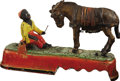 "Antiques:Toys, ""I Always Did 'Spise a Mule"" Mechanical Bank..."