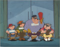 "animation art:Production Drawing, ""Duck Tales"" Ma Beagle and the Beagle Boys Animation Production CelSet-Up with Background Original Art (Disney, 1987)...."