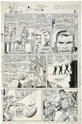 Original Comic Art:Panel Pages, Dick Ayers and John Tartaglione - Sgt. Fury #28, page 2 OriginalArt (Marvel, 1966)....