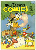 Golden Age (1938-1955):Cartoon Character, Walt Disney's Comics and Stories #24 (Dell, 1942) Condition:VG-....