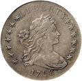 Early Dollars, 1798 $1 Pointed 9, 5 Stripes, 10 Arrows XF45 NGC....