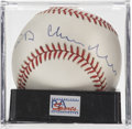 Autographs:Baseballs, Happy Chandler Single Signed Baseball, PSA NM-MT 8. Baseball'ssecond commissioner who oversaw the integration of the league...