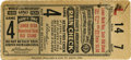 Baseball Collectibles:Tickets, 1934 St. Louis Cardinals World Series Game 4 Ticket Stub. ImportantWorld Series stub from the 1934 Fall Classic that pitte...
