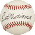 Autographs:Baseballs, Ted Williams Single Signed Baseball. Boston's beloved Ted Williamshas placed a splendid example of his desirable signature...
