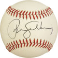 Autographs:Baseballs, Ryne Sandberg Single Signed Baseball. A welcome addition to theChicago Cubs in 1984, Ryne Sandberg quickly became a fan fa...