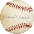 Autographs:Baseballs, Travis Jackson Single Signed Baseball. The solid shortstop was one of John McGraw's final great proteges, amply helping the...
