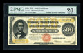 Large Size:Gold Certificates, Fr. 1217 $500 1922 Gold Certificate PMG Very Fine 20 NET....