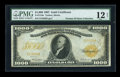 Large Size:Gold Certificates, Fr. 1219e $1000 1907 Gold Certificate PMG Fine 12 NET....