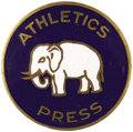 Baseball Collectibles:Others, 1930 World Series Press Pin (Philadelphia Athletics). Generallyconsidered the rarest post-1920 press pin. The vast areas of...
