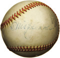 "Autographs:Baseballs, 1950's Tris Speaker Signed Baseball. ""If you put a baseball andother toys in front of a baby, he'll pick up a baseball in ..."