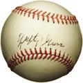Autographs:Baseballs, 1970's Lefty Grove Signed Baseball. One of the game's greatestsouthpaws, Grove retired with a record of 300 wins against j...