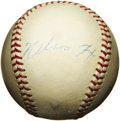 Autographs:Baseballs, 1950's Nellie Fox Signed Baseball. Booking at $3,000 in Sports Market Report for a legitimate single, the diminutive Ch...