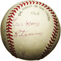 Autographs:Baseballs, 1979 Negro Leaguers Multi-Signed Baseball with Turkey Stearnes.Fantastic multi-signed sphere is highlighted by the appeara...
