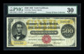 Large Size:Gold Certificates, Fr. 1216a $500 1882 Gold Certificate PMG Very Fine 30....