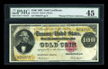 Large Size:Gold Certificates, Fr. 1213 $100 1882 Gold Certificate PMG Choice Extremely Fine45....
