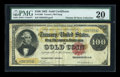 Large Size:Gold Certificates, Fr. 1209 $100 1882 Gold Certificate PMG Very Fine 20....